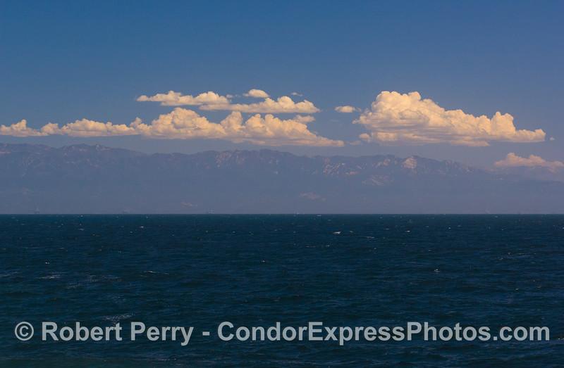 Santa Ynez Mtn & clouds 2011 08-28 SB Channel b - 043