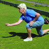 Jeanne Moffat throws a bowl at the Prince Georgew Lawn Bowling green on Watrous Street Thursday afternoon. The club meets Sunday at 2pm, Tuesdays and Thursday at 1 pm and Wednesday evenings at 7 pm. They are always looking for new members of all ages. Citizen photo by Brent Braaten    Aug 4 2011