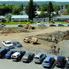 Work has started by Wayne Watson construction on  Canadian Cancer Society's Kordyban Lodge beside the new BC Cancer Agency's cancer clinic. Citizen photo by Brent Braaten      Aug 4 2011