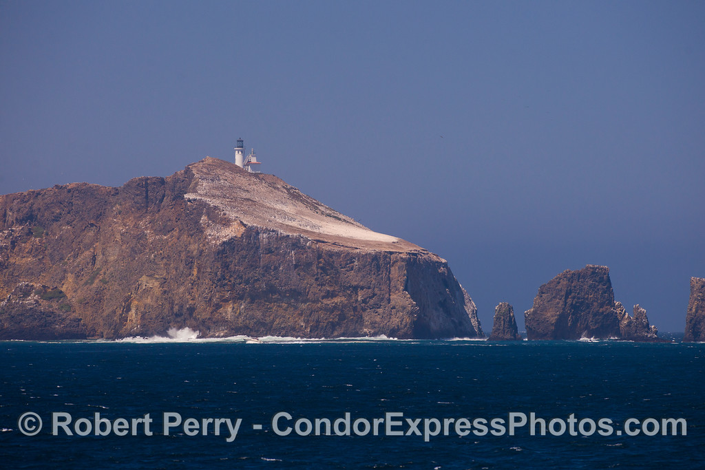 The eastern tip of Anacapa Island, south side.