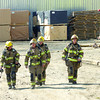 City of Prince George firefighters at the scene of a fire at Dollar Saver Lumber on Northern Crescent in the Danson Industrial Site Wednesday afternoon. Citizen photo by Brent Braaten      Aug 31 2011