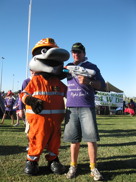 Mick & Paddy the SES mascot