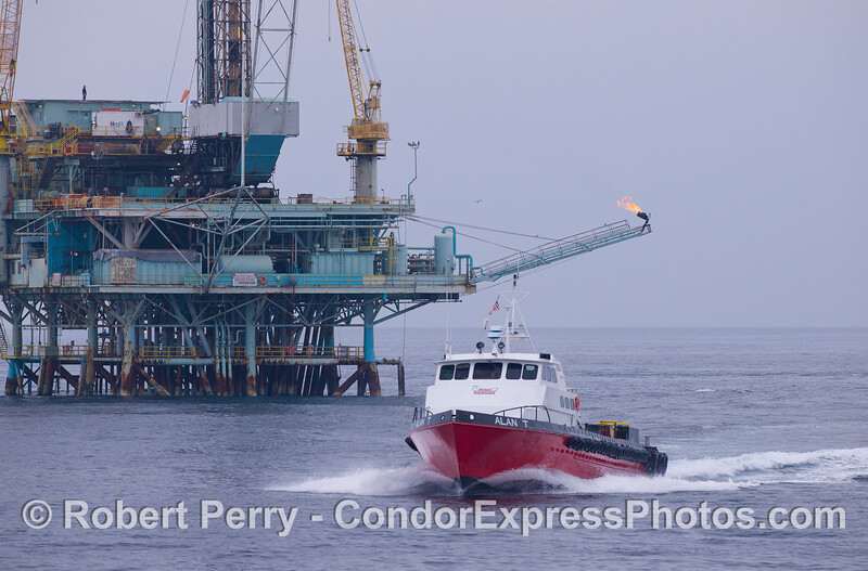 Offshore supply and support vessel Alan T with Platform Hillhouse in the back.