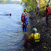 Members of the Prince George Fire/Rescue Department  were taking a two-day Swift Water Rescue course in the Nechako River. They were practicing rescues with a throw bag in the Nechako River. Citizen photo by Brent Braaten     Sept 6 2011