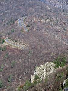 Shooting down on Skyline Drive, you can see the trees are naked now.