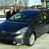 Lorne Johnson from Northern Toyota with 2012 Toyota Prius V. Citizen photo by Brent Braaten  Nov 22 2011