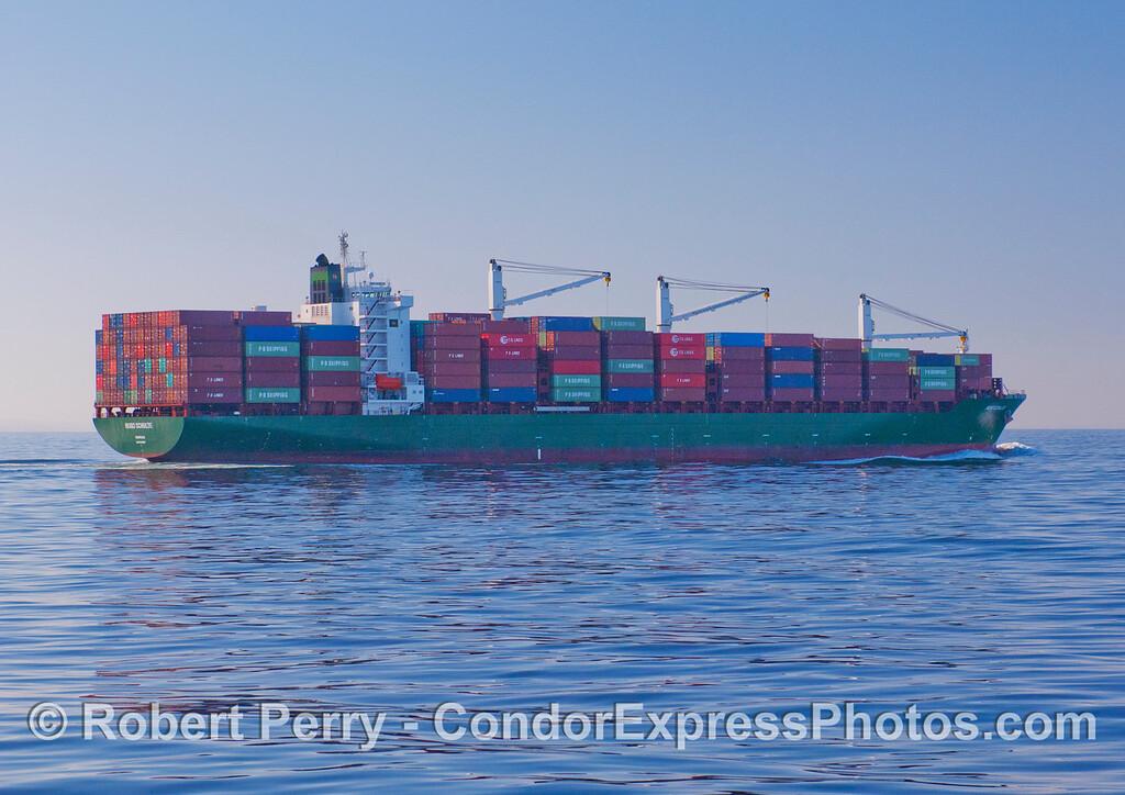 The container vessel Hugo Schulte.