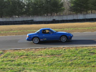 Miata out of turn 1