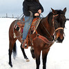 Sandy Suter on her horse Kye on her 80 acre farm. Citizen photo by Brent Braaten    Dec 23 2011