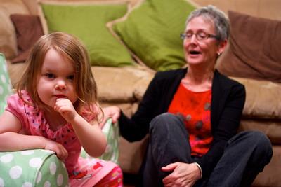 Aunt Gennie was telling Anna a story