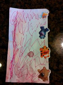 "Anna wrote me a ""recipe"" to follow"