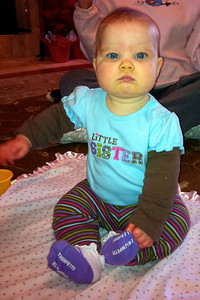 Ellen sits by herself for the first time!