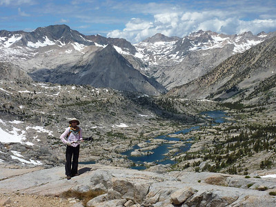 Dusy Basin from Knapsack Pass.
