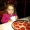 "We had a ""girl's night"" while Brian was out of town at D'Angelo's, where Anna got to make her own pizza"