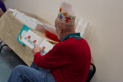 Mr. Joe read the kids two stories about birthdays
