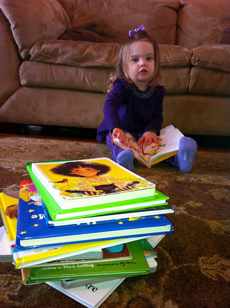 Anna's pile of books this morning