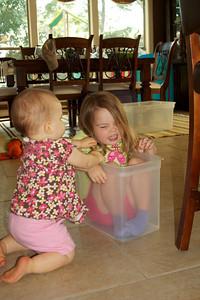 Typical day - Anna annoys Ellen. Ellen pulls Anna's hair.