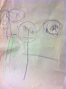 """Anna drew us, and it was the first time she drew a body for her """"happy"""" faces3"""