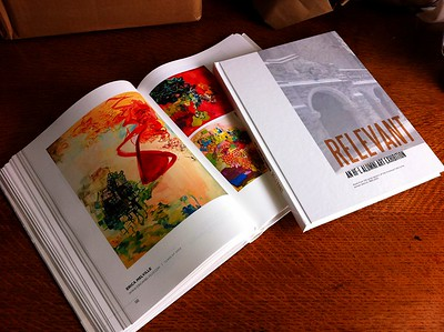 """Relevant: An HF-L Alumni Art Exhibition"" 233-page hardcover exhibition book"