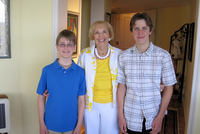 Nonna and the boys, Easter morning