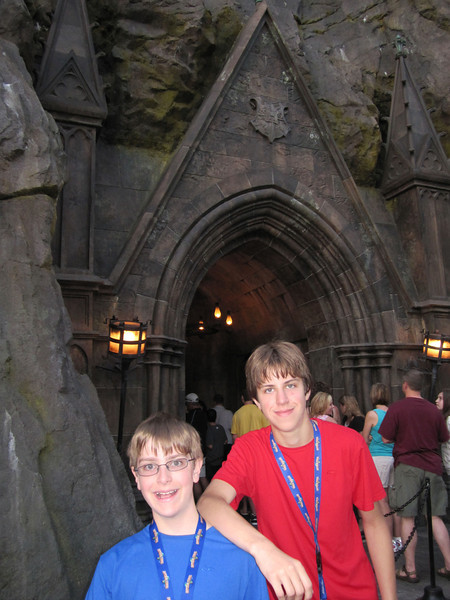 Early morning at Harry Potter World