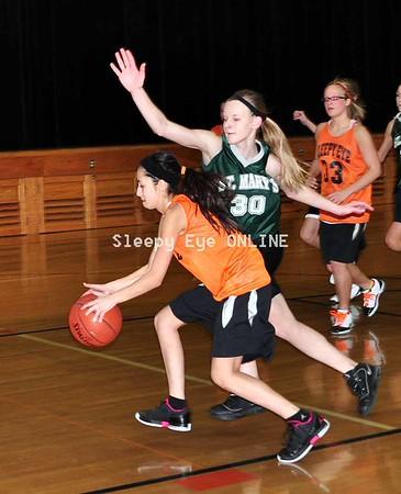 20110205 Sleepy Eye vs St. Mary's Jr. High Girls Basketball
