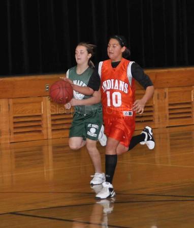 20111210 Sleepy Eyhe vs St. Mary's Elementary Girls Basketball