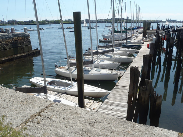 Another day, another view Boston Sailing Center main dock.