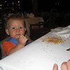 Judah was the messiest eater in the resort.  We always shamed away from the table after every meal.