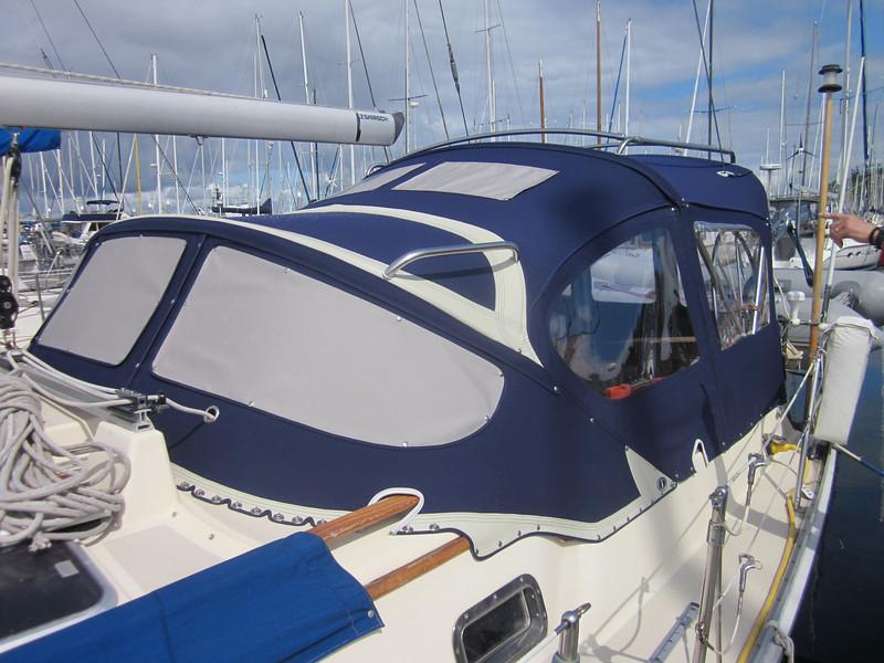 Iverson dodger, bimini and full cockpit enclosure