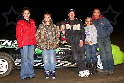 thunder car track champ with fam