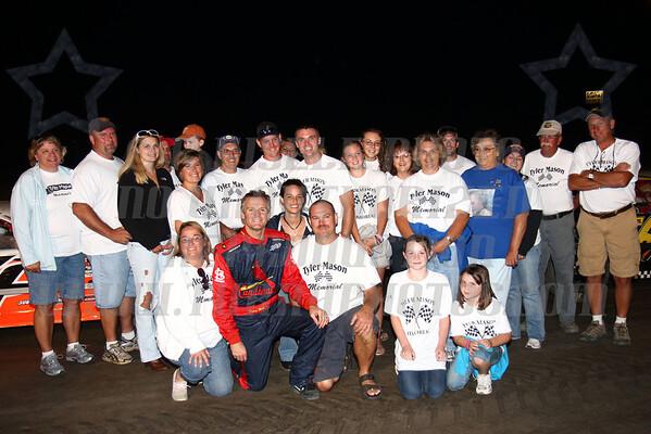 Kenny Wallace with Mason Family