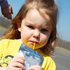Anna's favorite part - juice!