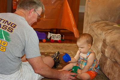 PawPaw entertaining Ellen before the guests began to arrive