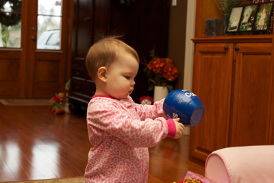 Ellen loved dumping this bowl of cookies on the floor.