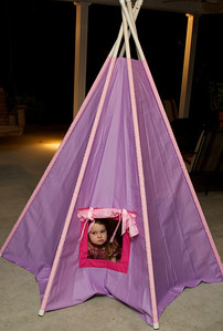 The teepee was a hit.