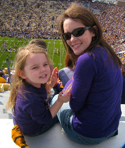 We made it to the big game!  #1 LSU v. #3 Arkansas 2011