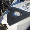 """1/2"""" G10 foredeck backing plate for both the chain stopper and windlass."""