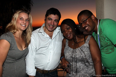 Ginni Ryan (PPR), Rob Frank (Verve Creative) Lalie Ngozi  and Eric Lewanavanua (South African Tourism)