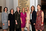 Museum President Ellen V. Futter (second from left) with chairs Catherine Sidamon-Eristoff, Suzanne Cochran, Connie Spahn, Joanne Prager, Mary Solomon, and Kitty Kempner.