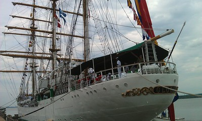 The ARC Gloria, docked at Robinson Terminal South