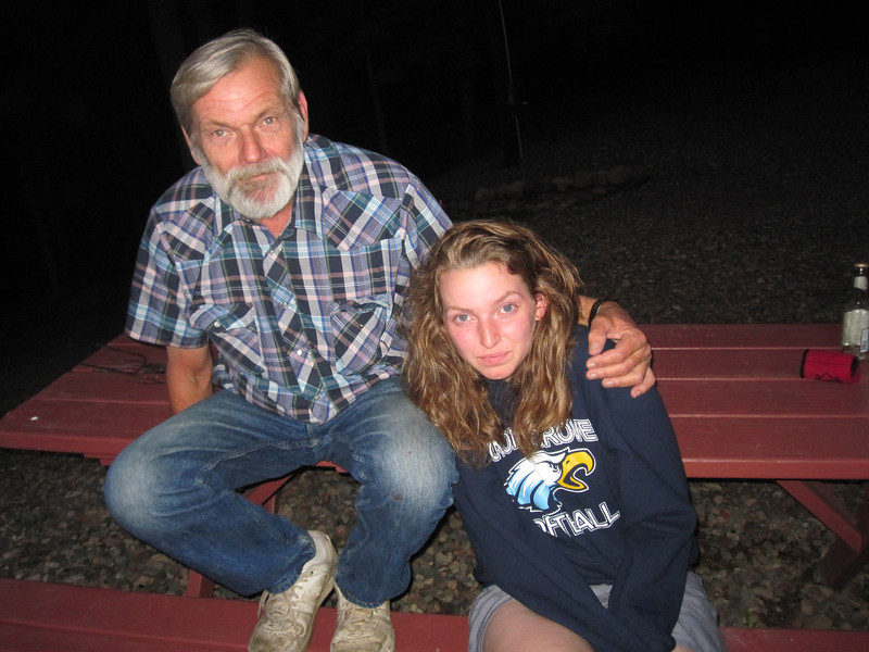 Doug and Kailee by the bonfire at nite