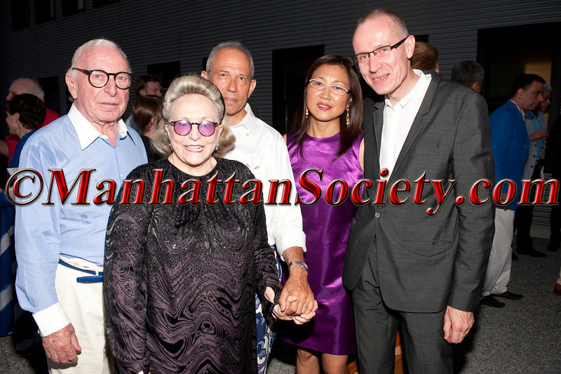 "Ambassador Carl Spielvogel, Barbaralee Diamonstein Spielvogel, Mark Newhouse, Wang Ping, Robert James Thomson, Managing Editor of the Wall Street Journal attend ""Voluptuous Panic"", The 18th Annual Watermill Center Summer Benefit Gala on Saturday, July 30, 2011 at The Watermill Center, 39 Watermill Towd Road, Water Mill, New York  PHOTO CREDIT: ©Manhattan Society.com 2011"