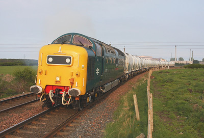 55022 Winning Crossing 18/04/11 6N69 North Blyth to Lynemouth approaches Winning Crossing