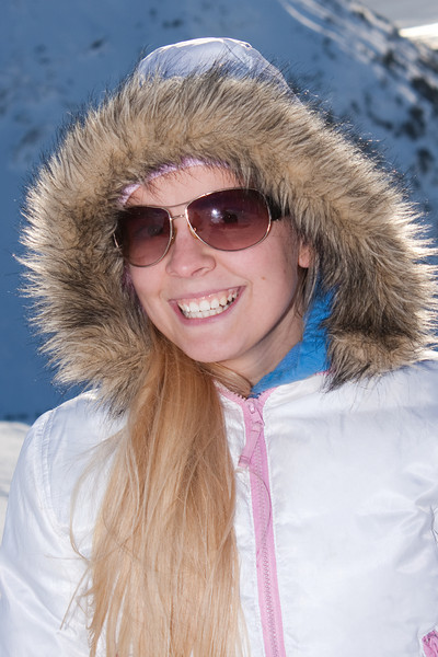 Always a smile from Lydia, especially on the slopes on a sunny day!