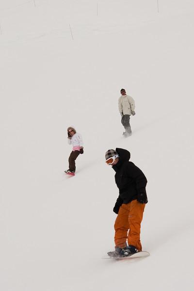 Ben, Lydia, and Tim make their way through the whiteout.