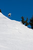 A light hop takes Ben airborne on the slopes.