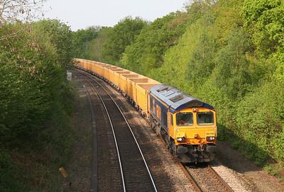 66702 Chineham 26/04/11 6O96 Mountsorrel to Eastleigh
