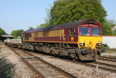 66124 Basingstoke 25/04/11 6Y42 Hoo Jct to Eastleigh (via Acton and Reading due to Easter engineering work)