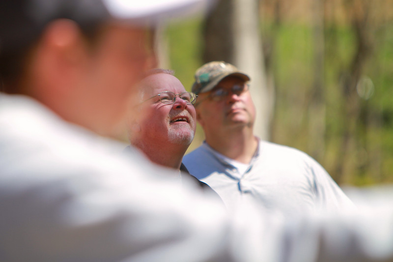 A group from Clearwater Paper visits the Broyhill Adventure Course during a business retreat; April 06, 2011.